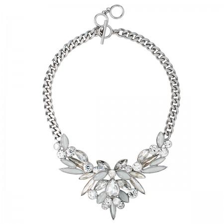 Sparkling Ice Flower Necklace